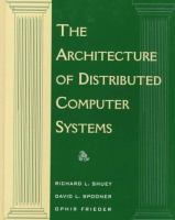 Cover image for The architecture of distributed computer systems : a data engineering perspective on information systems