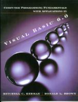 Cover image for Computer programming fundamentals with applications in visual basic (R) 6.0