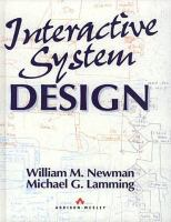 Cover image for Interactive system design