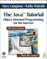 Cover image for The Java tutorial: object-oriented programming for the internet