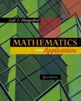 Cover image for Mathematics with applications in the management, natural, and social sciences