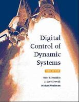 Cover image for Digital control of dynamic systems
