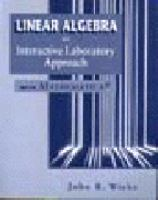 Cover image for Linear algebra : an interactive laboratory approach with mathematica