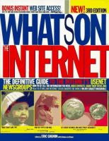 Cover image for What's on the internet : the definitive guide to the internet's USENET newsgroups
