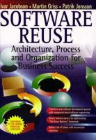 Cover image for Software reuse : architecture process and organization for business success