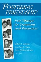 Cover image for Fostering friendship : pair therapy for treatment and prevention