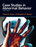 Cover image for Case studies in abnormal behavior