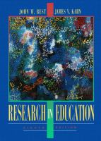 Cover image for Research in education