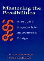 Cover image for Mastering the possibilities : a process approach to instructional design