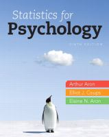 Cover image for Statistics for psychology