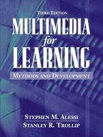 Cover image for Multimedia for learning : methods and development