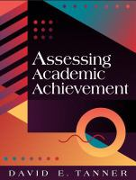 Cover image for Assessing academic achievement