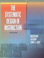 Cover image for The systematic design of instruction