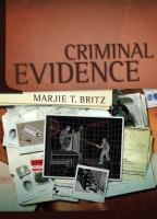 Cover image for Criminal evidence