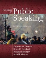 Cover image for Principles of public speaking