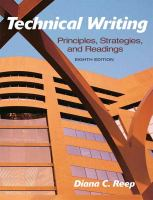 Cover image for Technical writing : principles, strategies, and readings