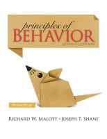 Cover image for Principles of behavior