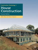 Cover image for Construction technology 1 : house construction