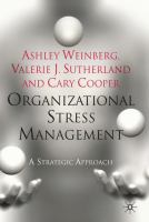 Cover image for Organizational stress management : a strategic approach