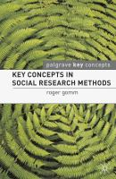 Cover image for Key concepts in social research methods