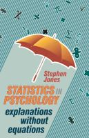 Cover image for Statistics in psychology : explanations without equations