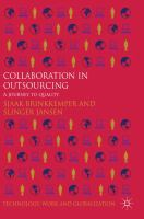 Cover image for Collaboration in outsourcing : a journey to quality