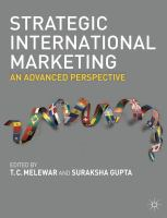 Cover image for Strategic international marketing : an advanced perspective