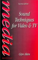 Cover image for Sound techniques for video and TV