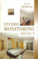 Cover image for Studio monitoring design : a personal view