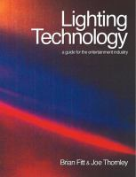 Cover image for Lighting technology : a guide for the entertainment industry