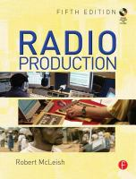 Cover image for Radio production