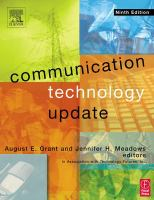 Cover image for Communication technology update