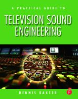Cover image for A practical guide to television sound engineering
