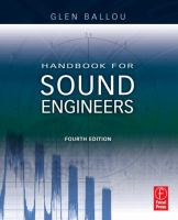 Cover image for Handbook for sound engineers