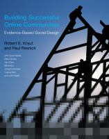Cover image for Building successful online communities : evidence-based social design