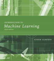 Cover image for Introduction to machine learning