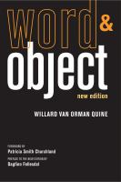 Cover image for Word and object