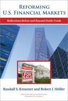 Cover image for Reforming U.S. financial markets : reflections before and beyond Dodd-Frank