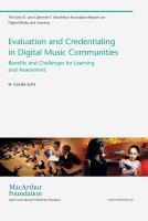 Cover image for Evaluation and credentialing in digital music communities : benefits and challenges for learning and assessment