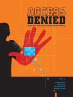 Cover image for Access denied : the practice and policy of global Internet filtering