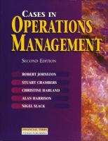 Cover image for Cases in operations management