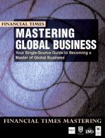 Cover image for Mastering global business : the complete MBA companion in global business