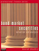 Cover image for Bond market securities