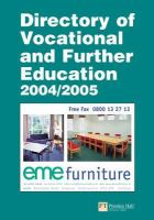 Cover image for Directory of vocational and further education 2004/2005