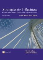 Cover image for Strategies for e-business : creating value through electronic and mobile commerce : concepts and cases