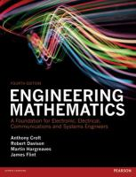 Cover image for Engineering mathematics : a foundation for electronic, electrical, communications and systems engineers