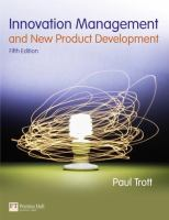 Cover image for Innovation management and new product development