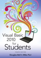 Cover image for Visual Basic 2010 for students