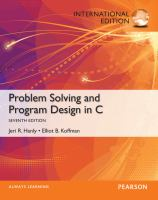 Cover image for Problem solving and program design in C