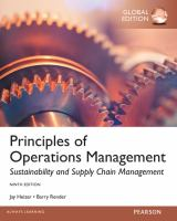 Cover image for Principles of operations management : sustainability and supply chain management